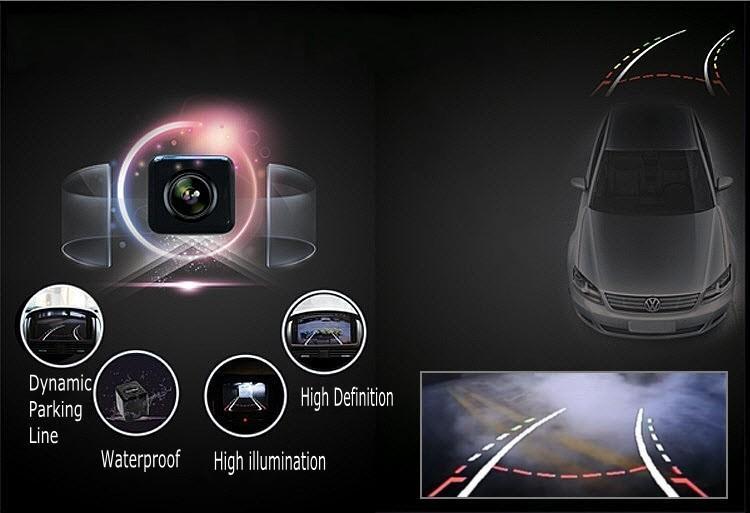 자동차 주차 카메라 / HD CCD 토요타 RAV4 XA30 2005 ~ 2012 스페어 휠 온 도어 용 RCA NTST 라이센스 플레이트 라이트 OEM / 리어 뷰 카메라
