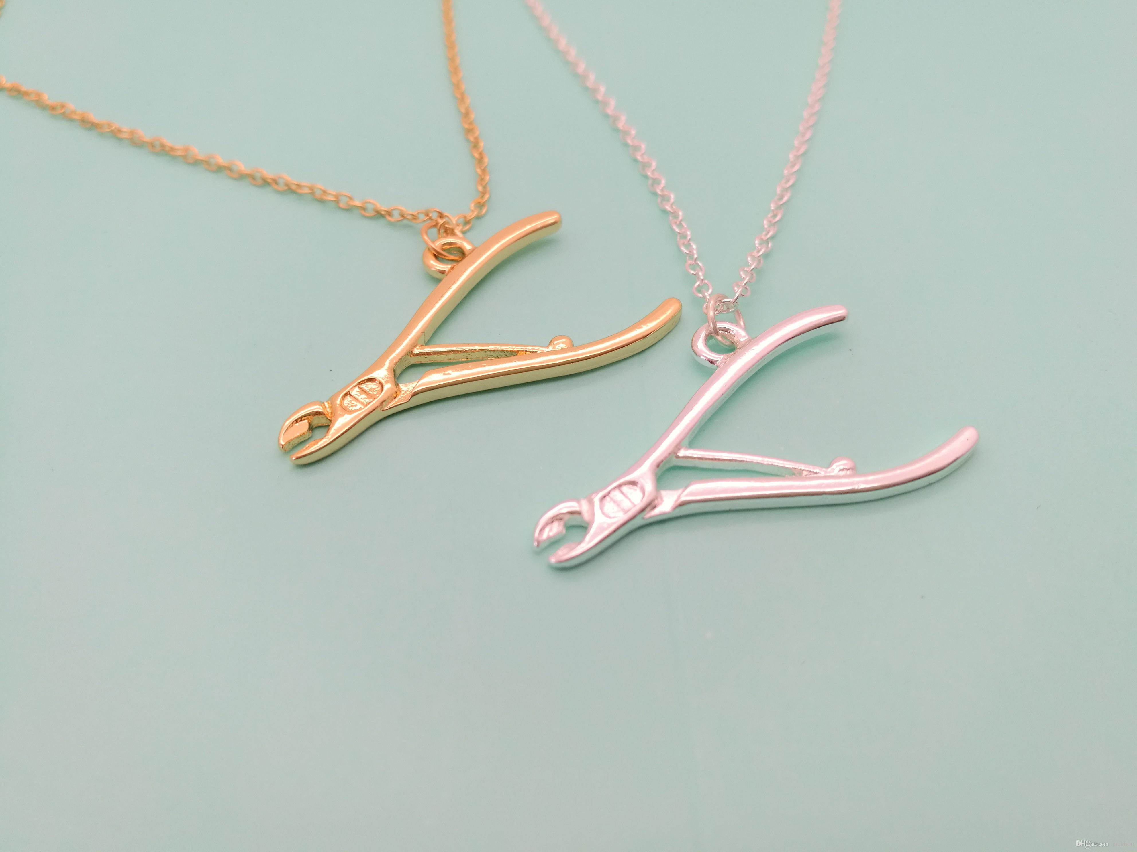10PCS- N142 Pliers Necklace Mechanic Tool Wrench Necklaces Repair Instrument Motorcycle Motor Biker Spanner Pendant Necklaces