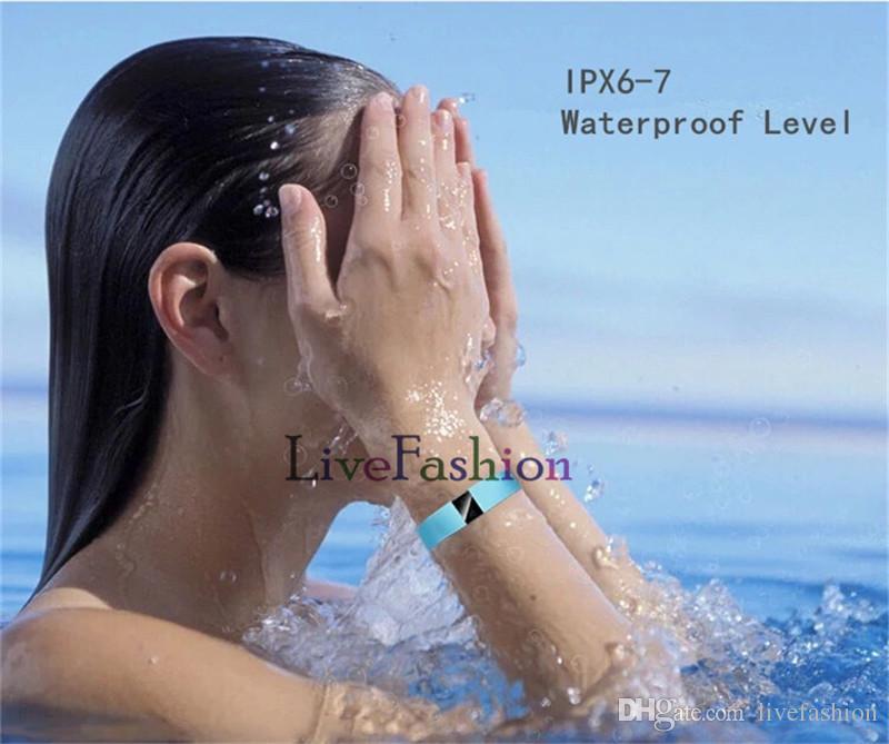 Newest TW64 Healthy Smart Bracelet Bluetooth Fitbit Flex Wristband Sport Watch Waterproof Passometer Sleep Tracker Activity Monitor for IOS