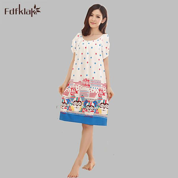 Wholesale- Nightgowns For Women Long Cartoon Girls Nightwear ... abab7b4bf