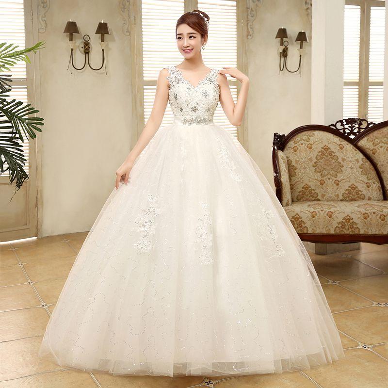 Vestido De Noiva 2017 New Arrive Flowers Crystal Embroidery Wedding ...