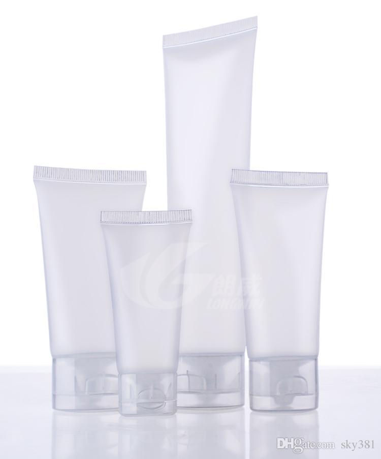 15 g 30 g 50 g 100 g yüz temizleme tüpü sıkıştırarak Şişe plastik Kozmetik hortum yıkama el kremi ambalaj hortum kozmetik