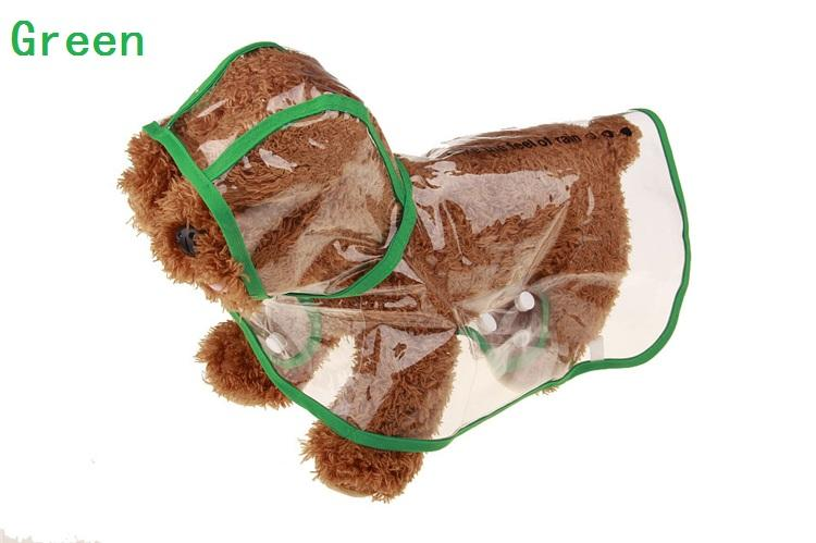 Al por mayor - Perro transparente impermeable impermeable poncho mascota con capucha mascota poncho ropa perro Ropa día lluvioso IA004