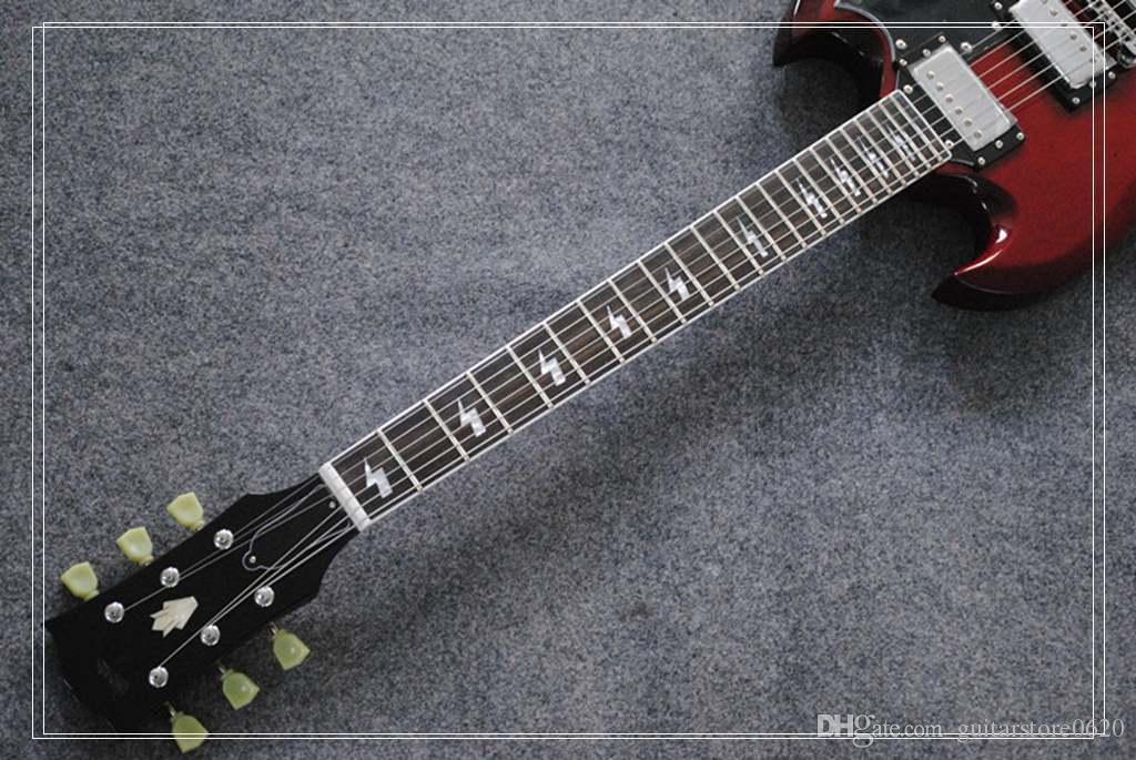 Wholesale SG Guitars china factory Jazz guitar AC/DC inlaids sg electric guitar
