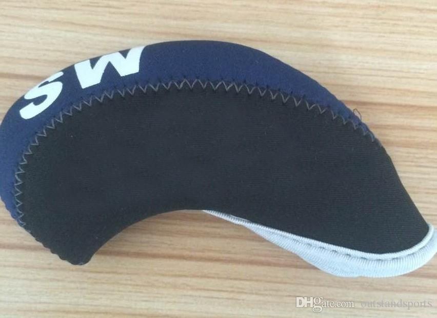 customerized zwei Ton Neopren-Golfeisenabdeckung mit der Nummer auf OEM Golf Headcover jedes Logo bedruckt werden kann