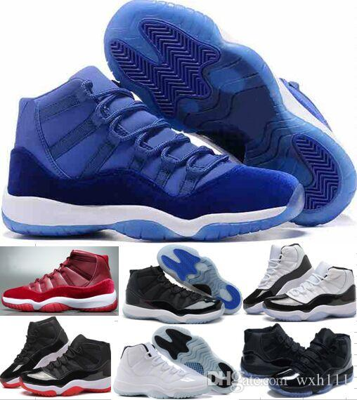 be12eb289bd New 11 11s Concord Gamma Blue Men Basketball Shoes Top Quality 72 10 Bred Space  Jam Legend Blue Sneakers Boots Chicago Gym Red Sneakers Designer Shoes ...