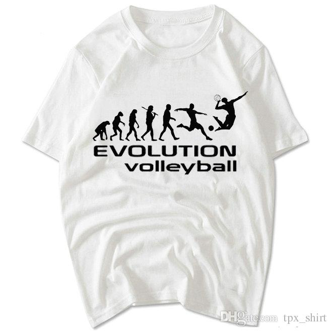 Top Evolution Volleyball T Shirt Unique Design Short Sleeve Gown Nice  NS65