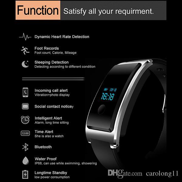 Esporte Smart Wristband Bluetooth Água à Prova D 'Água Pulseira Inteligente Esportes Esportes Sleep Caller Caller Andriod iOS Telefone para i5 Plus