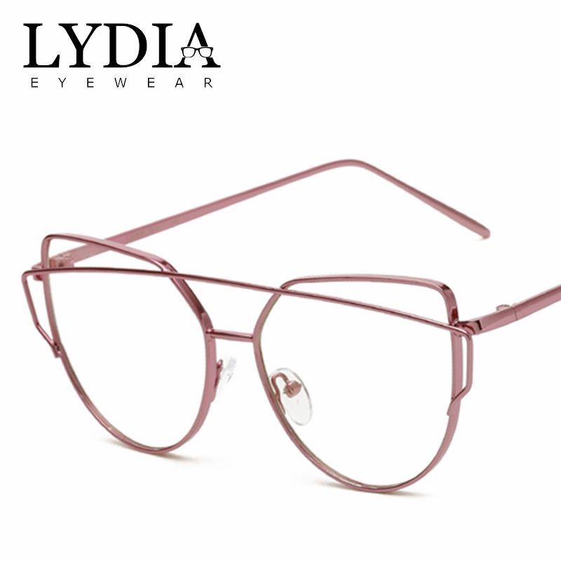 d8908244f6e 2019 LYDIA New Brand Fashion Cat Eye Optical Glasses Stylish Alloy Metal Frames  Glasses For Women Girls Gafas Bicchi Brille L2226 From Lydiaeyewear