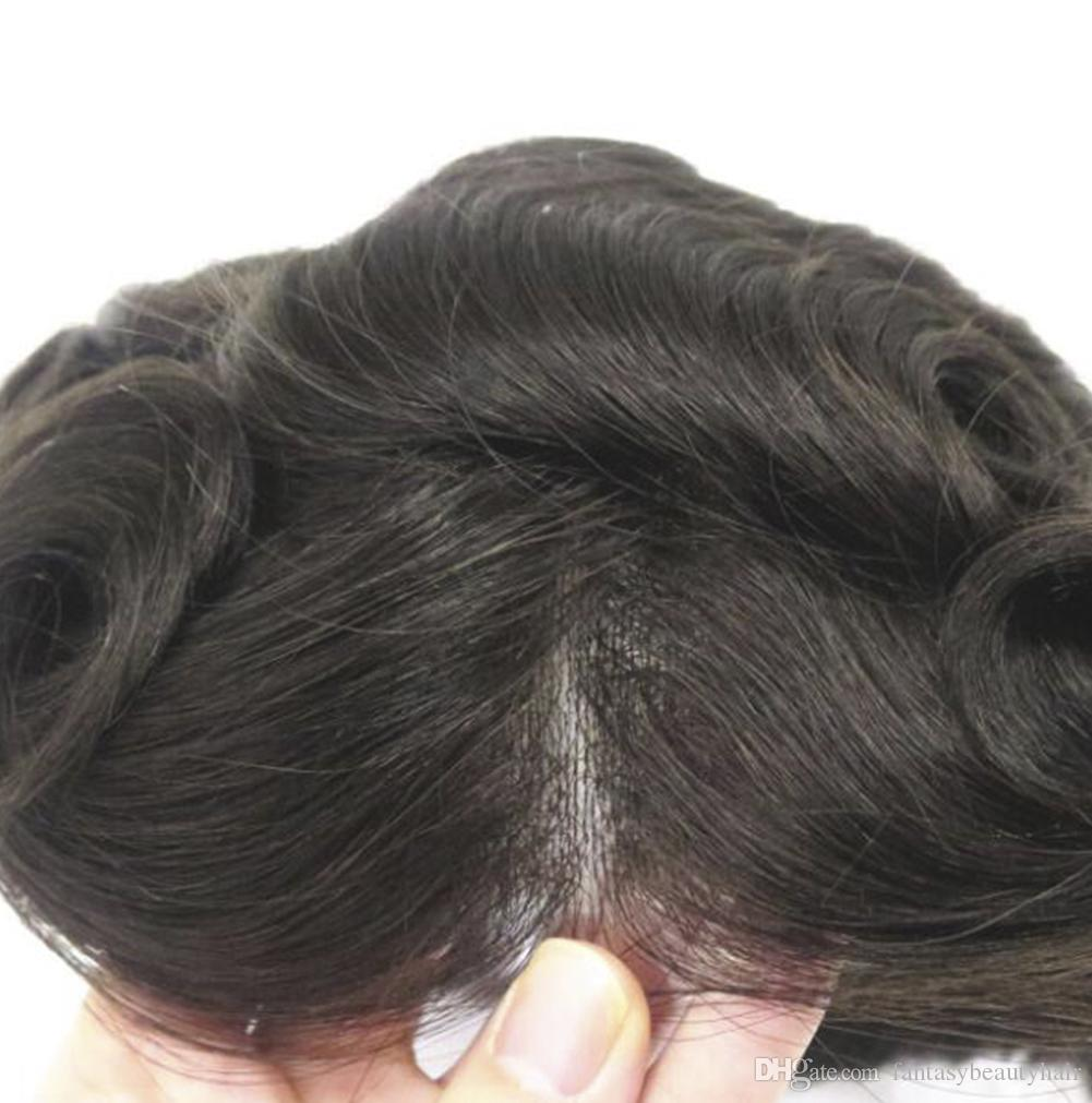 Ultra thin skin men toupee V loop 8x10inch , thickness 0.02-0.04mm NG hair men wig , hair replacment system