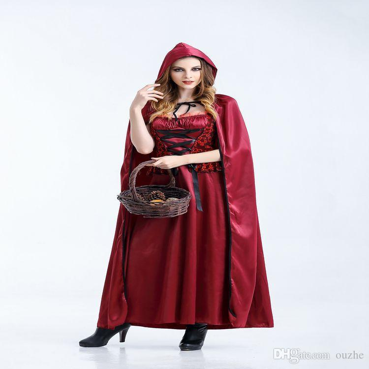 Christmas Halloween Costume Women Sexy Cosplay Little Red Riding Hood  Engine Fantasy Game Uniform Make Up Clothing 9bef2253dee2