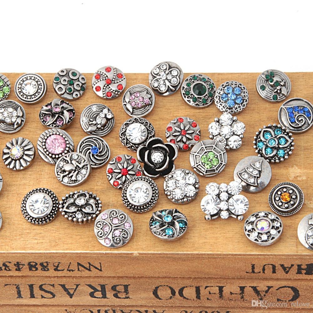 12mm Noosa Druckknopf Neueste Mode legierung diamant-haken Ingwer Snaps DIY Noosa Zubehör Schmuck NOOSA chunk