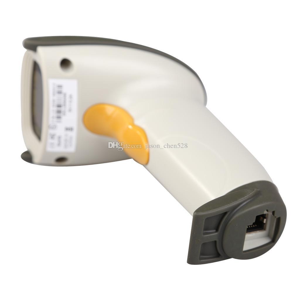 MJ4209 Lazer Tarayıcı USB Lazer Tarama Barkod Tarayıcı Barkod Okuyucu Beyaz Siyah El dhl kargo
