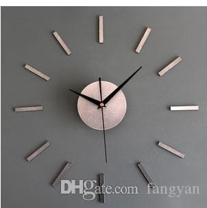Высококачественная металлическая текстура DIY висячие часы мода творческая комбинация часы самоклеющиеся часы земля Хао золотой колокольчик