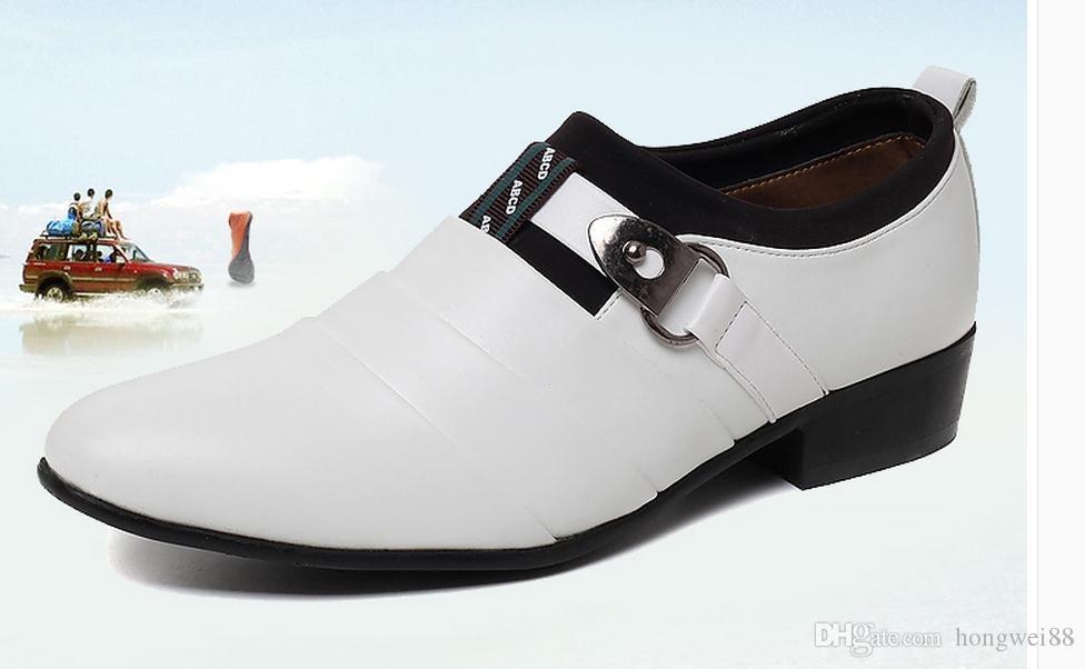 Летом 2015 года Новая Англия указал белые мужские кожаные ботинки бизнес обувь Хан издание свадебные туфли дышащий прилив