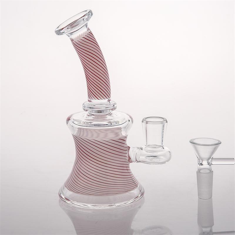 재고 담뱃대에서 인라인 Perclator에서 증권 Smokingi 파이프와 16cm 핑크 유리 기억 만 물 파이프 볼 14.4mm 집중 Dabbers 버블