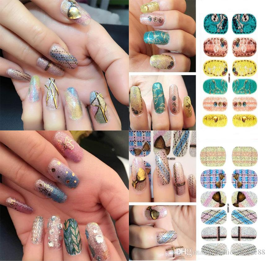 Sheet Fashion Nail Stickers Classic Art Stickers Diy Decorations ...