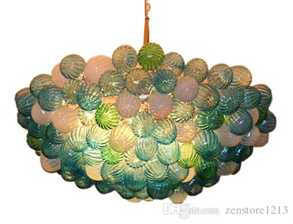 100% Mouth Blown Glass Ball Shaped DIY Chandelier Light Hotel Lobby Ceiling Decorative Modern Art Glass Pendant Lamps with CE UL Certificate