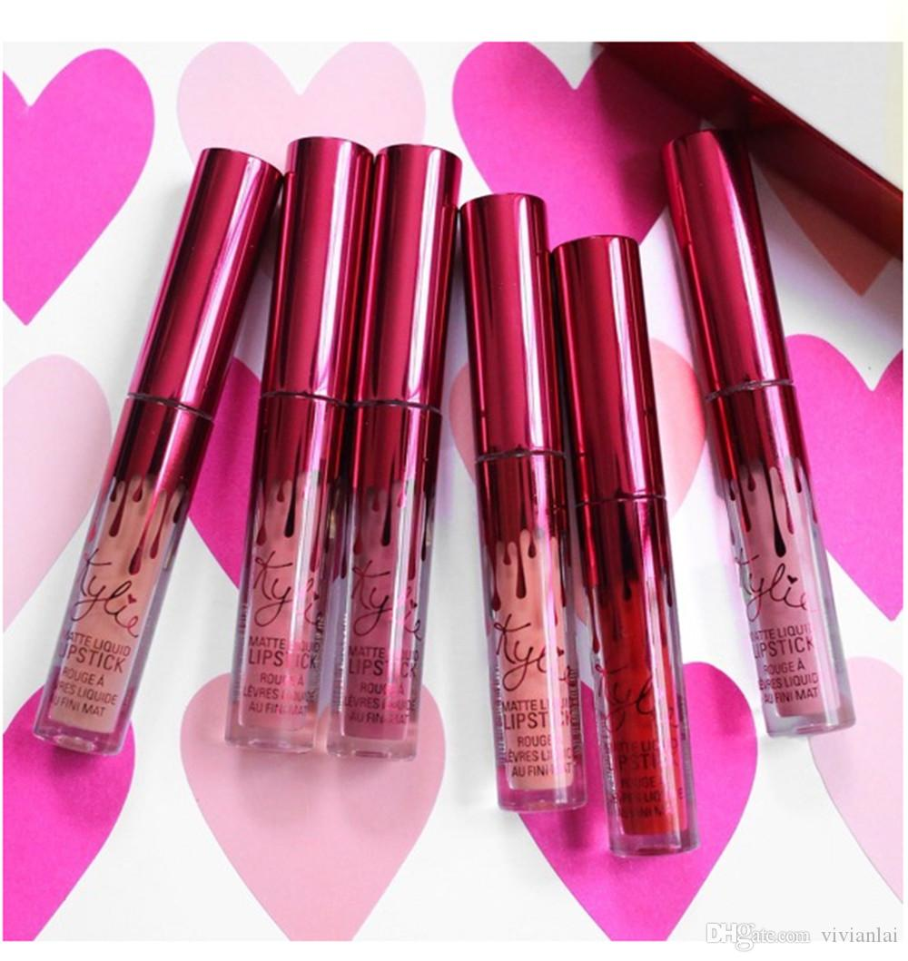 2017Kylie Valentines Collection Lipgloss Set Lipkit Kylie Jenner Valentine Gift Lipgloss one Set