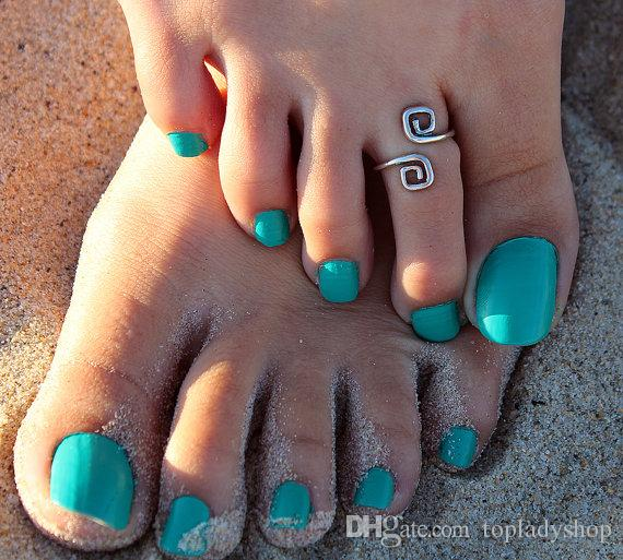Beach fashion show retro style luck 8 words toe ring foot ring wholesale