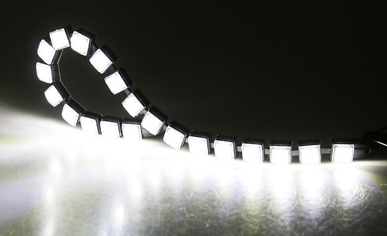 Araba styling Araba COB DRL Sürüş Sis Işık 6 LED Esnek Gündüz Çalışan Işık Honda / Toyota / Hyundai / VW / Kia forMazda / Buick / Nissan vb