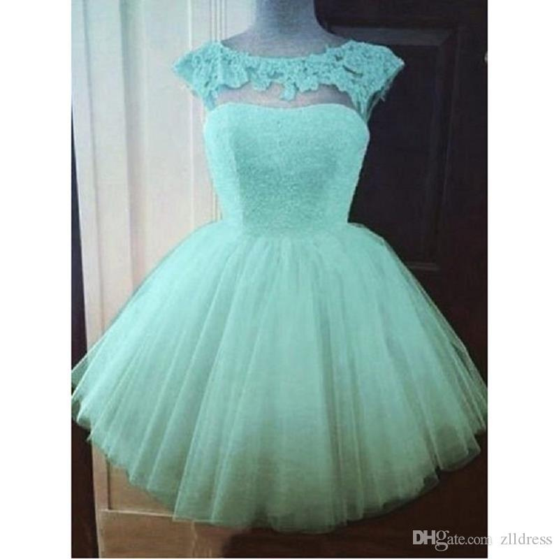 Short Aqua Homecoming Dresses