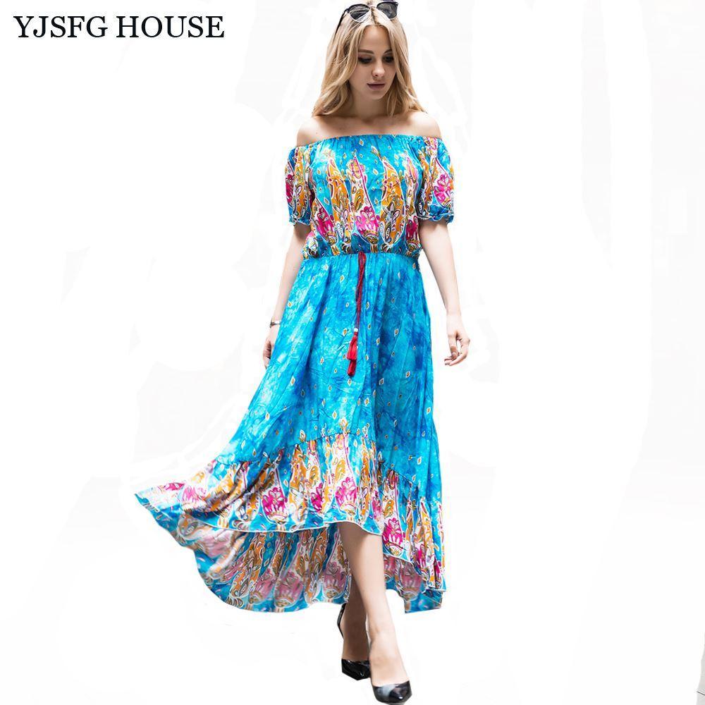 Yjsfg House Fashion Elegant Off Shoulder Irregular Party Dresses ...