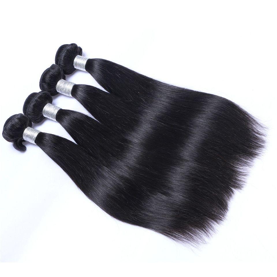 البرازيلي الإنسان ريمي عذراء الشعر حريري مستقيم الشعر ينسج اللون الطبيعي 100 جرام / حزمة لحمة مزدوجة 4 حزم / الكثير الشعر
