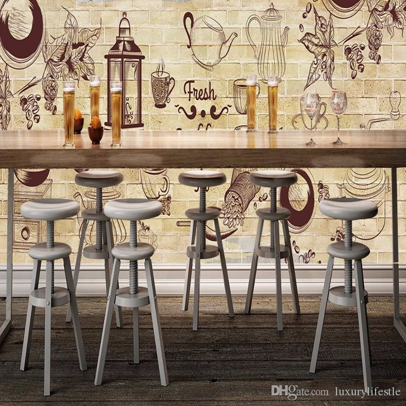 3d stereo custom cafe decorative background painting for Cafe mural wallpaper
