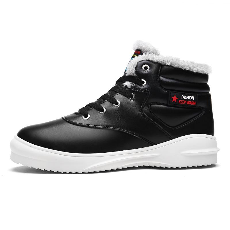 3bb64b202e5c High Quality Men Sports Shoes Snow Boots Winter Warm Plush Ankle Martin Boot  Fashion Rubber Tactical PU Sneaker Brands Run Outdoor Botas Cheap Shoes For  ...