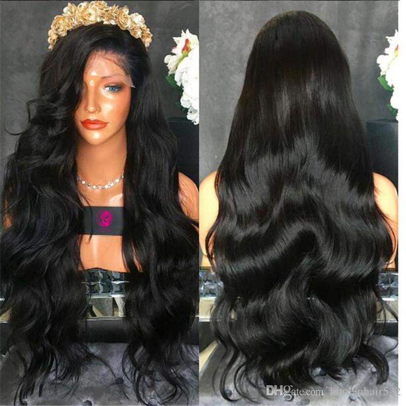 High quality Full Lace Human Hair Wigs Brazilian Virgin Hair natural Wave Lace Front Wigs With Baby Hair Glueless Full Lace Wigs