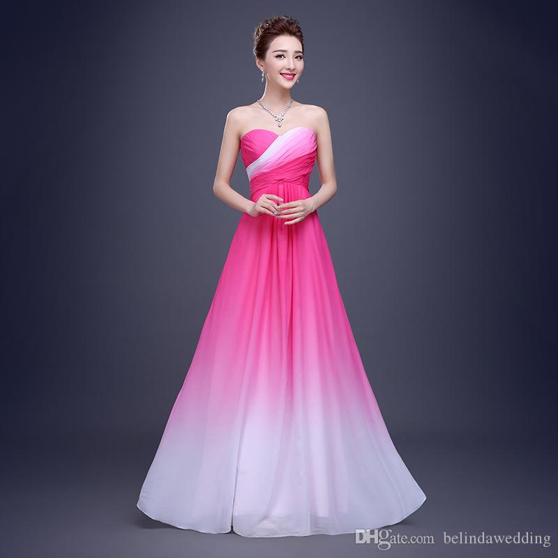 Hottest Ombre Sweetheart A Line Evening Prom Dresses Long Sleeveless ...