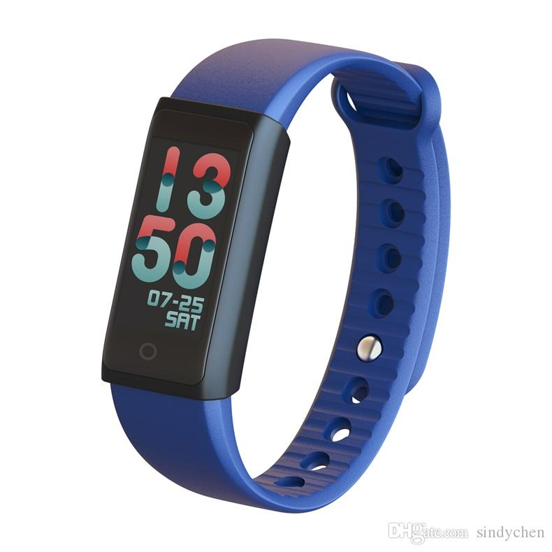 most fashion bluetooth bracelet smart wristband outdoor sports heart-rate wrist watch Fitbit Flex with colorful UI