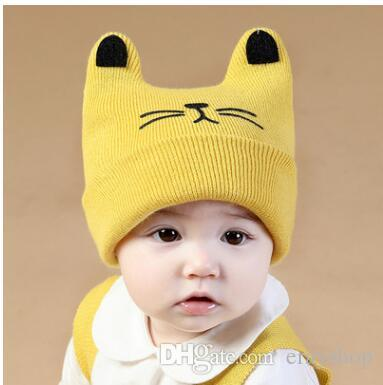 81d2b79ee8a NEW Baby s Knitted Ox Horn Stripes Caps Children Animal Cartoon Hats  Children s Caps Kids Autumn Winter Wool Caps Hats NEW Kids Winter Wool  Cartoon Caps ...