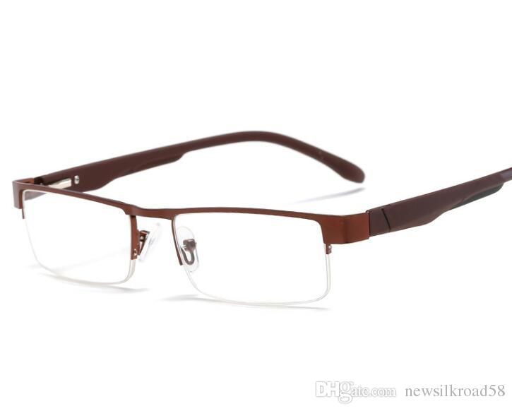 6db783ea97f5 Metal Half Frame Reading Glasses Ultra Light Presbyopia Spectacles 1.0 To  4.Temples Fatigue Gafas +1.0 +1.5 +2.0 +2.5 +3.0 +3.5 +4.0 Sexy Reading  Glasses ...