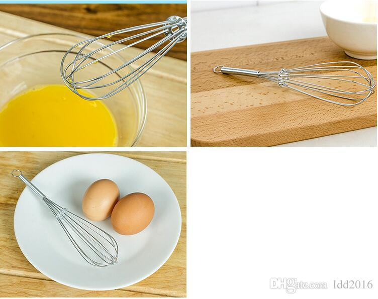 hotsale kitchen tools manual stainless steel egg beaters milk cream butter whisk mixer egg stiring egg tool