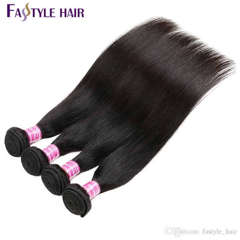Fashionable2017! Indian Straight Hair Weave Extension Unprocessed Brazilian Peruvian Malaysian Mink Virgin Human Hair Bundles Super Quality