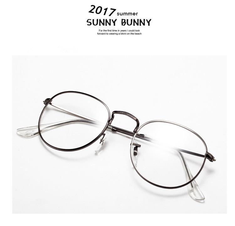 3c1fb611cfb16 Compre Super Vintage Rodada Marca Óculos Para Mulheres Dos Homens De Ouro  Frame De Liga Olho Óculos Popular Retro Óculos De Leitura Óptica LT3447 De  ...
