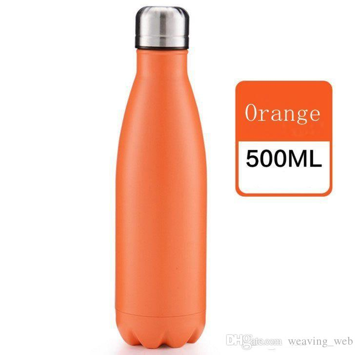 CUSTOM LOGO 17oz 500ml Cola Shaped Bottle Insulated Double Wall Vacuum high-luminance Water Bottle Creative Thermos bottle