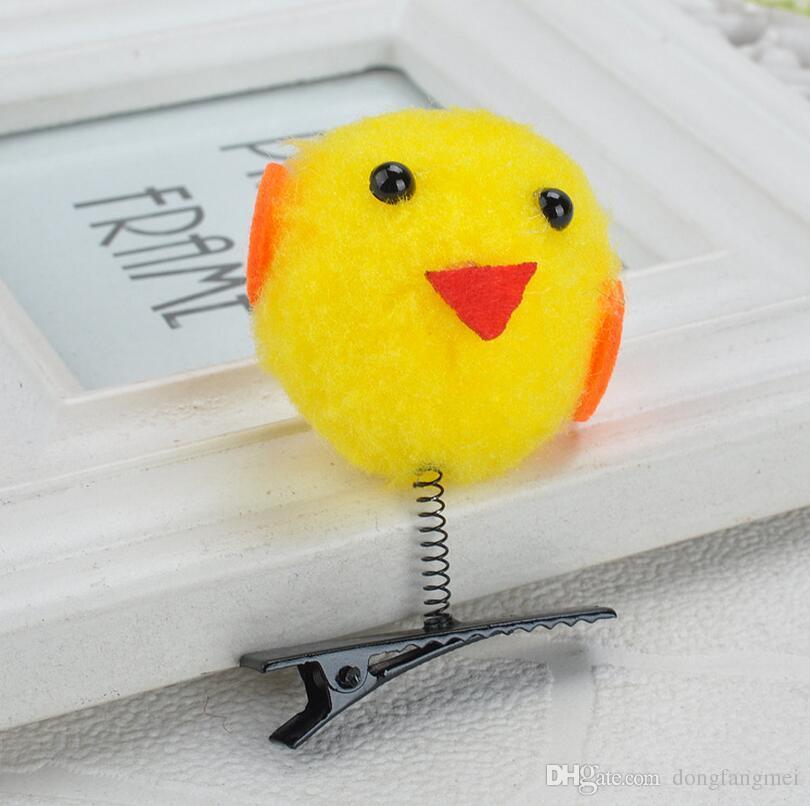 The new selling Meng cute little yellow chicken hairpin children cartoon hair headdress burst models FJ073 a