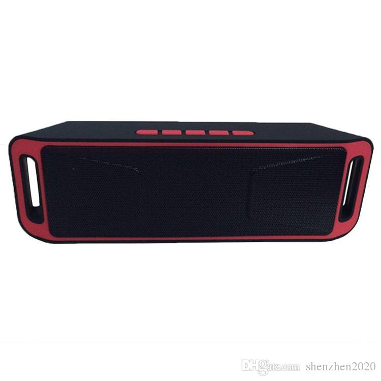 2017 NEW SC-208 Mini Portable Bluetooth Speakers Wireless Smart Hands-free Speaker Big Power Subwoofer Support TF and USB FM Radio