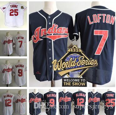 d868ed72f ... denmark 2017 mens cleveland indians 1995 world series jerseys 7 kenny  lofton 25 jim thome 9