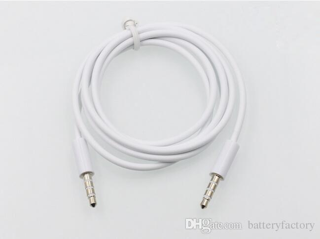 3.5mm AUX Audio Cables Male to Male Stereo Car Extension Audio Cable for MP3 for phone Black and White
