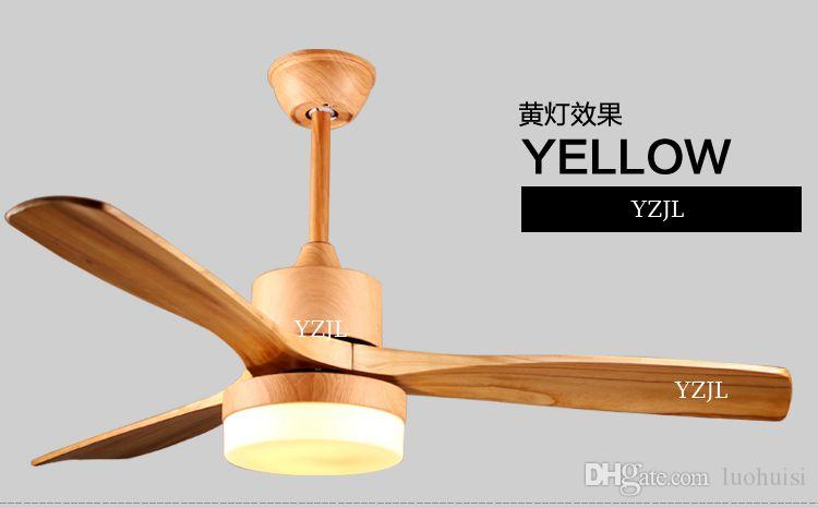 Nordic minimalist dining room fan chandelier fan lights 48inch solid wood lamp fan chandelier remote control 110V 240V