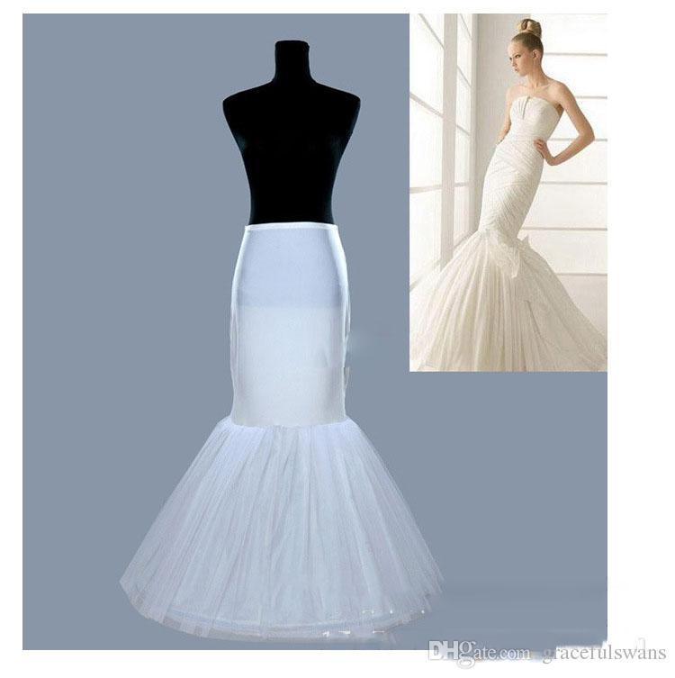 Mermaid Wedding Petticoat for Bridal Long Tulle Underskirt for Girls Dresses Accessori Sposa White Crinoline 2019