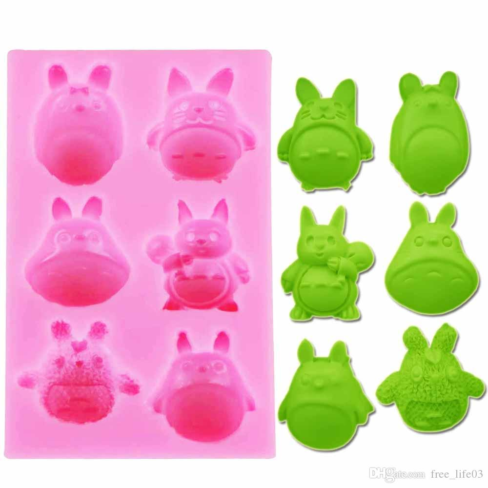 Cartoon Totoro Silicone Fondant Molds Frame Cake Sugar Craft Decorating Tools Kitchen Baking Cupcake Chocolate Candy Soap Clay Moulds