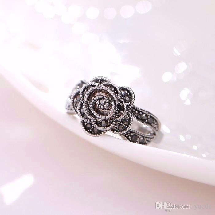 2017 Top Fashion Plated Geometric Hot Retro 925 Sterling Rings For Woman Unique Thailand Compatible With Pandora Charm Jewelry