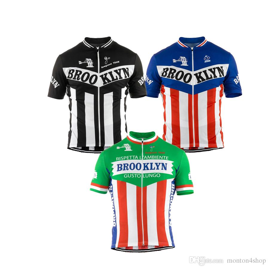 2018 Men Cycling Jersey White Black Green Short Sleeve Brooklyn Cycling  Clothing Summer Bicycle Clothes Mtb Road Bike Wear Customized Long T Shirts  T Shirts ... 4e1f1160d