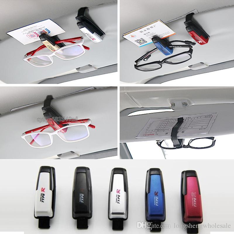 DC-1301 TYPE R TYPE acessórios de estilo do carro Sun Visor óculos de Sol Olho Cartão Clipe Titular Clipe Suporte para Carro Auto Veículo Turismo itens