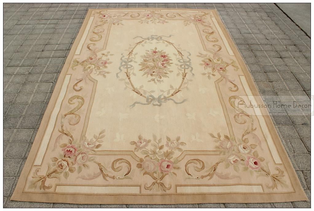 Awesome 5x8 Aubusson Area Rug Antique French Pastel Rose Floral Wool Handwoven Flat  Weave Carpet For Bedroom Living Room Dining Room Hallway Afghan Rugs  Aladdin ...